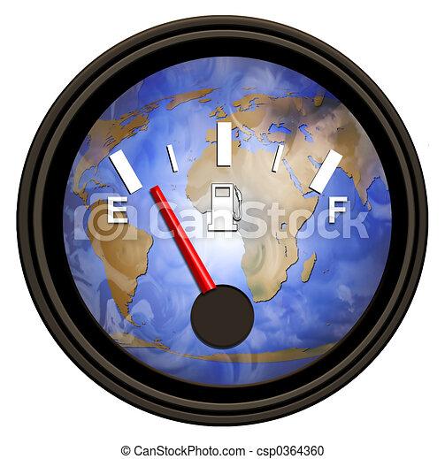 wereld, benzine, meten - csp0364360