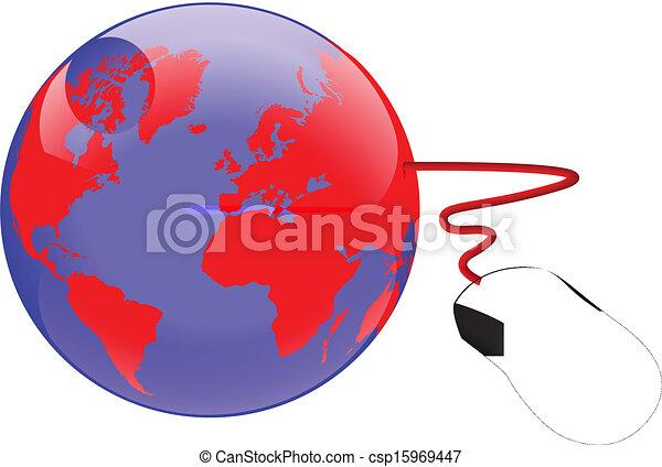 wereld, internet - csp15969447