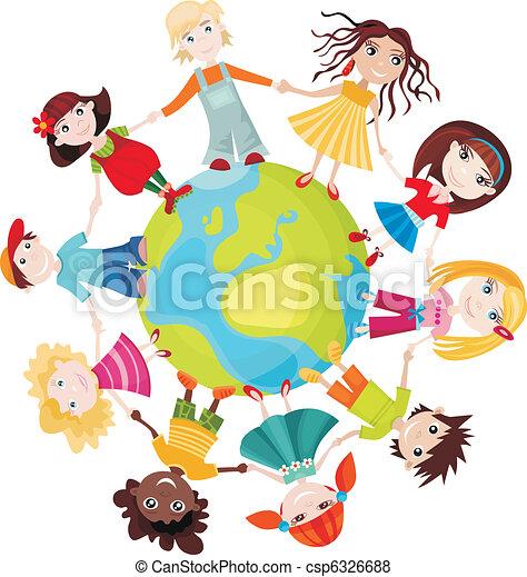 wereld, kinderen - csp6326688
