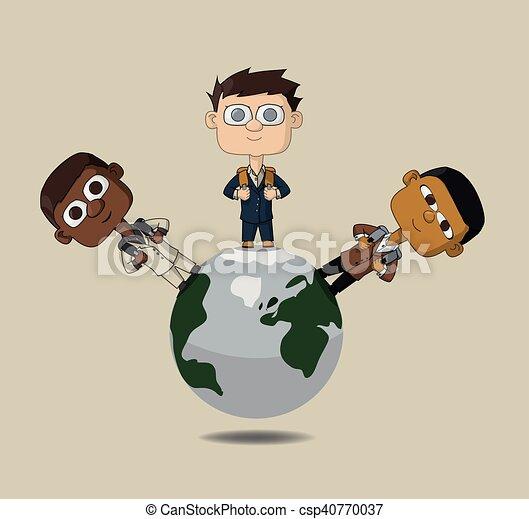 wereld, kinderen - csp40770037