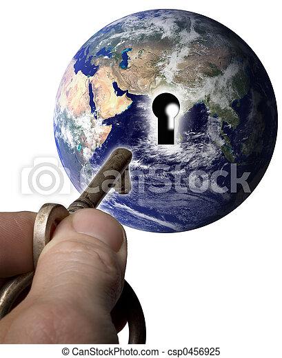 wereld, klee - csp0456925