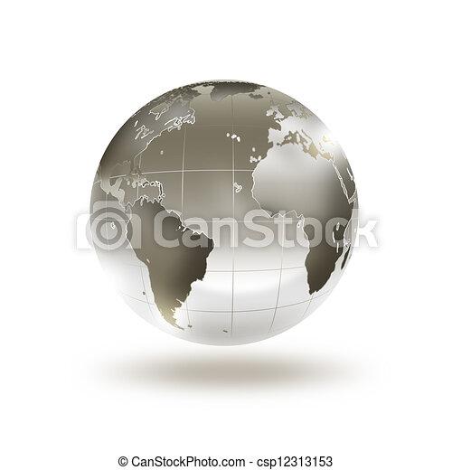 wereld, metaal - csp12313153