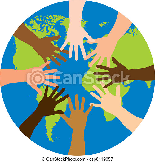 wereld, op, verscheidenheid - csp8119057