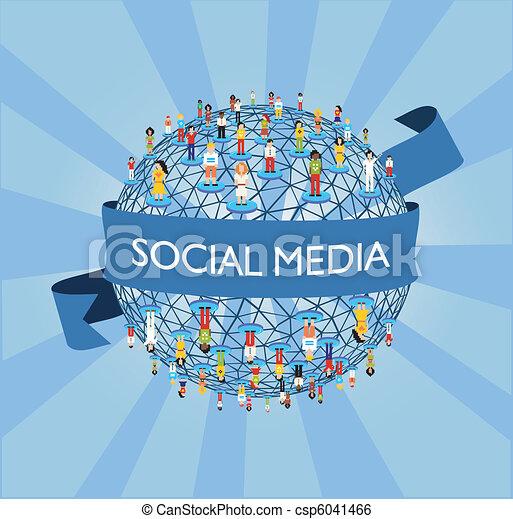 wereld, sociaal, netwerk, media - csp6041466