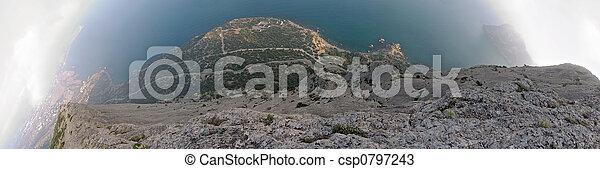 wereld, verticaal, rots - csp0797243