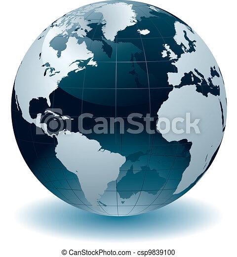 wereldbol, landkaarten - csp9839100