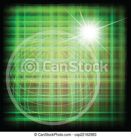 wereldbol, vector, rooster achtergrond - csp22162983