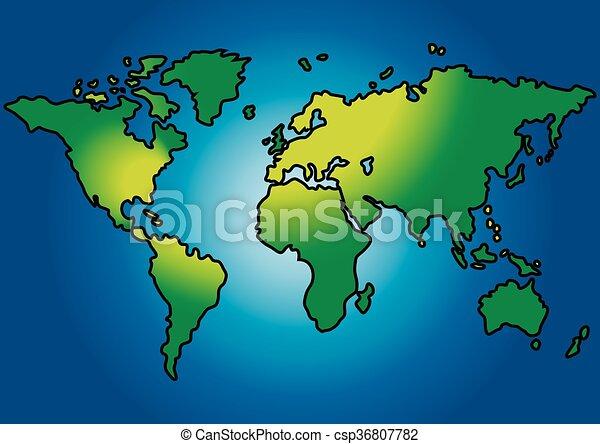 wereldkaart - csp36807782