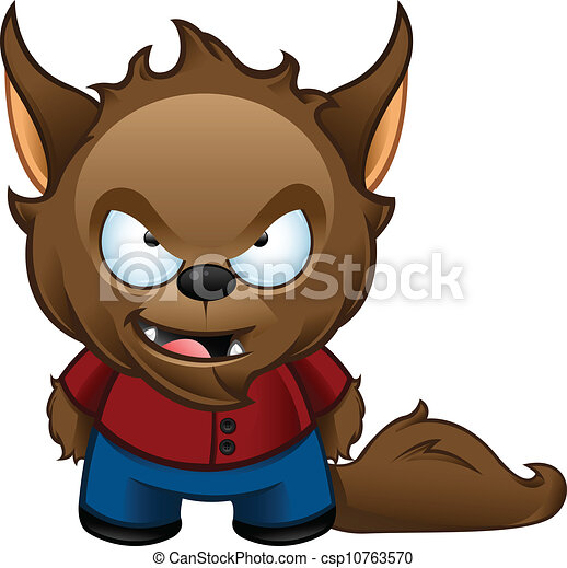 werewolf monster bad a cute vector illustration of a bad rh canstockphoto com cute werewolf clipart werewolf clipart free