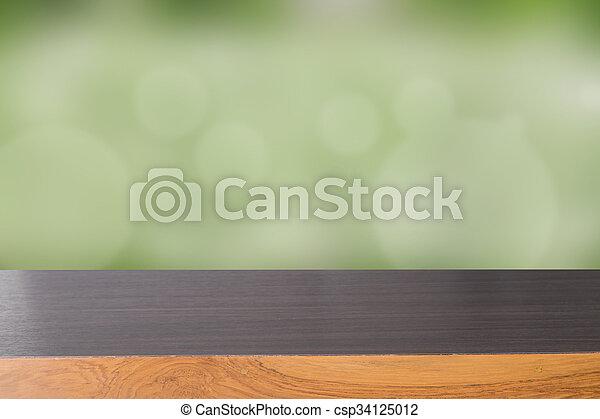 (werk)blad, hout, groene, bokeh - csp34125012