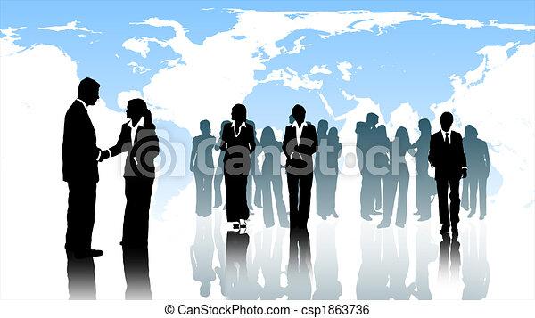 werken, handel team - csp1863736
