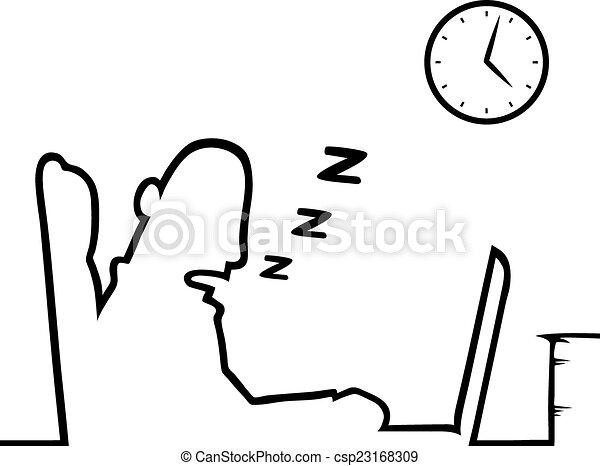 werken, slapend, man - csp23168309