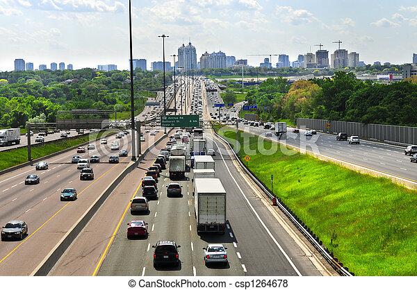 werkende, snelweg - csp1264678