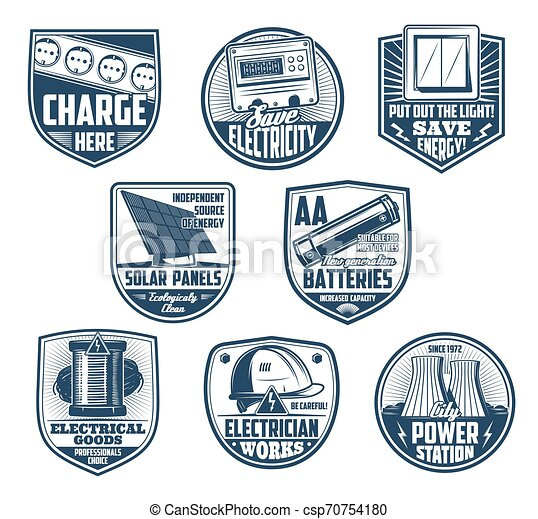 werktuig, macht, batterij, energie, meter, electriciteitsdraad - csp70754180