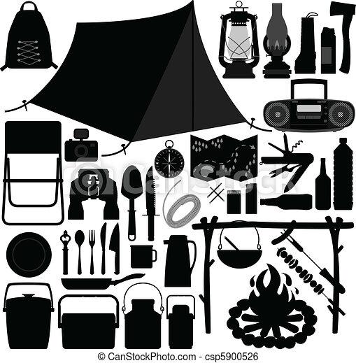 Werkzeug Freizeit Picknick Camping Vektor