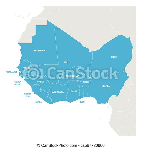 map of africa vector West Africa Region Map Of Countries In Western Africa Vector map of africa vector