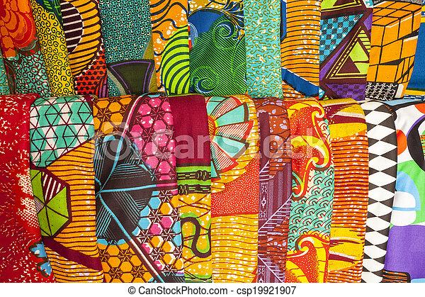afrikanische stoffe aus ghuana, westafrika. afrikanische