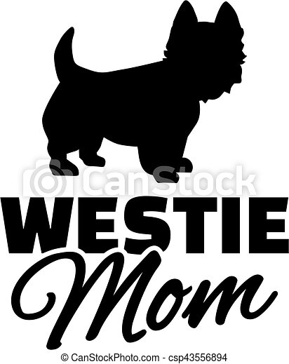 west highland terrier mom eps vectors search clip art rh canstockphoto co uk clipart westie dogs Westie Silhouette