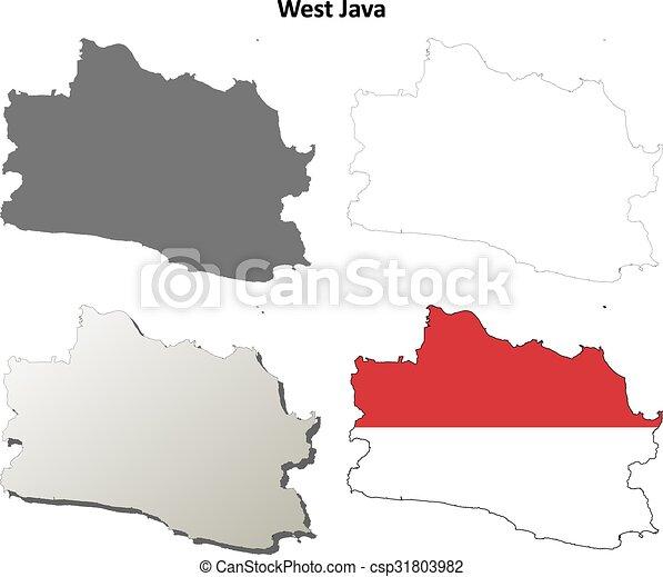 West java blank outline map set west java blank detailed vector west java blank outline map set csp31803982 gumiabroncs Choice Image