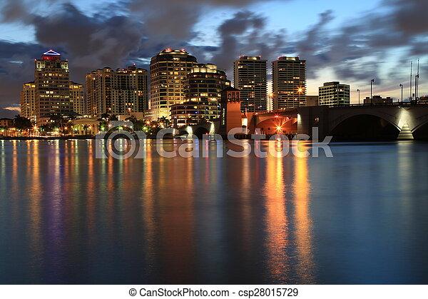 West Palm Beach, Florida skyline - csp28015729