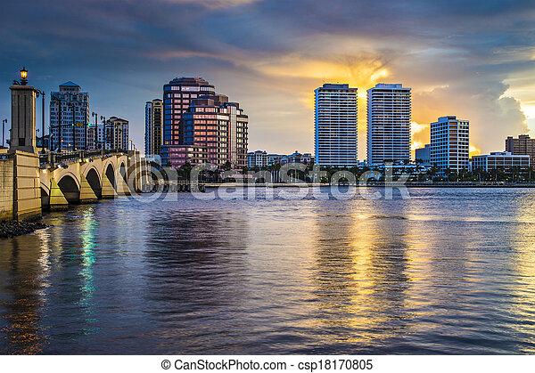 West Palm Beach Florida - csp18170805