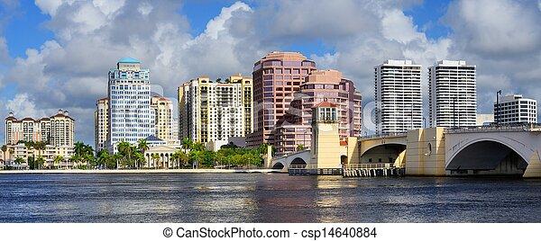 West Palm Beach Skyline - csp14640884