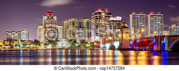 West Palm Beach Skyline - csp14737284