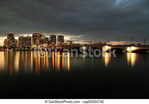 West Palm Beach Skyline - csp55354742