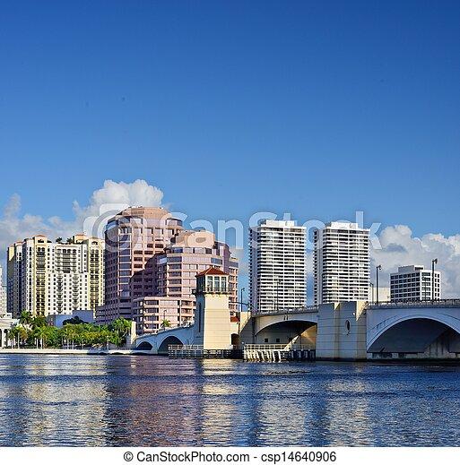 West Palm Beach Skyline - csp14640906