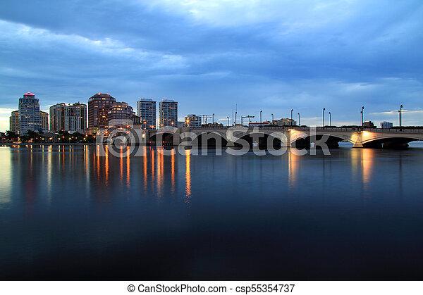 West Palm Beach Skyline - csp55354737