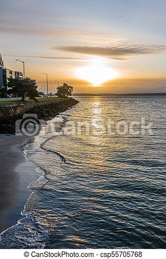 West Seattle Sunset - csp55705768