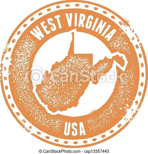 West Virginia USA State Stamp - csp13357443