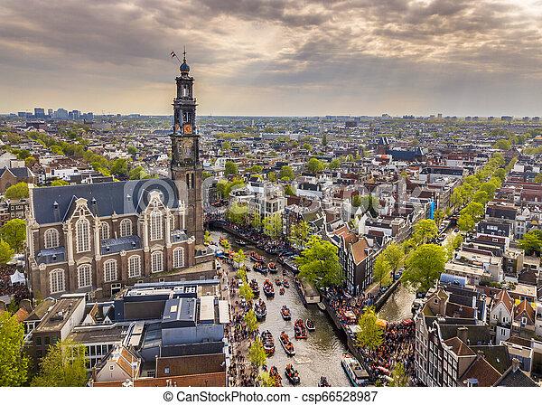 Westerkerk Kings day - csp66528987
