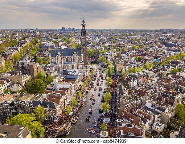 Westerkerk Kings day - csp84749391