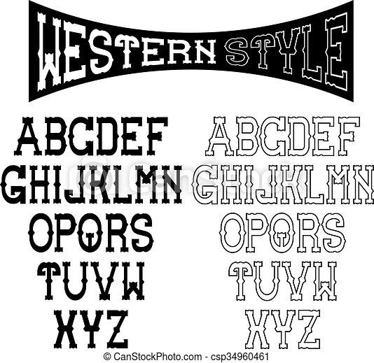 western alphabet - csp34960461