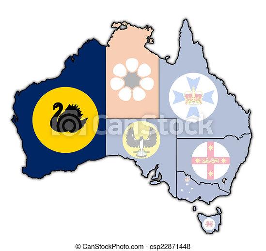 western australia on map of australia western australia drawing rh canstockphoto com australia clipart free australian clip art
