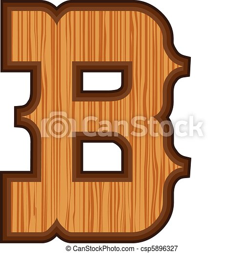 Western B letter - csp5896327