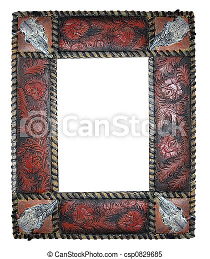 Western frame. A detailed empty western looking picture frame.