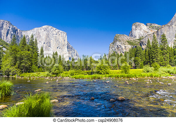 western rocket plateau of yosemite national park with merced riv - csp24908076