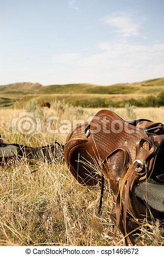 Western Saddle - csp1469672
