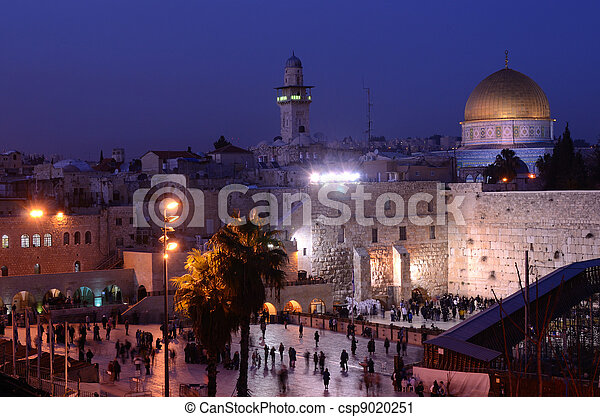Western Wall and Dome of the Rock - csp9020251
