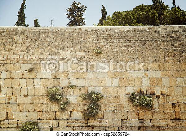 Western Wall in Jerusalem - csp52859724