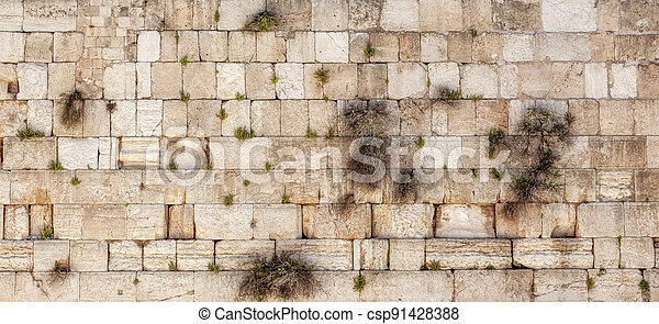 Western Wall in the Old City - csp91428388