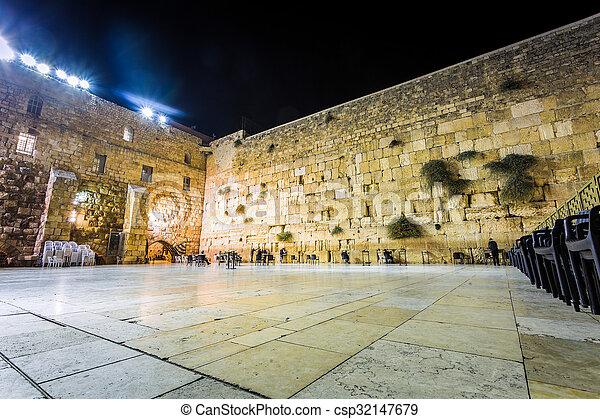 Western wall, Jerusalem, Israel - csp32147679