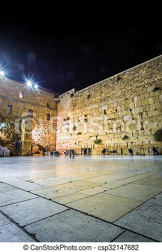 Western wall, Jerusalem, Israel - csp32147682