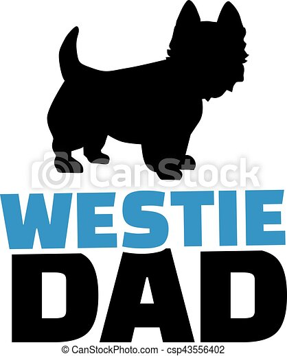 westie dad with dog silhouette vector clipart search illustration rh canstockphoto com Westie Silhouette westie clipart free