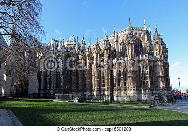 Westminster abbey - London, UK - csp18501203
