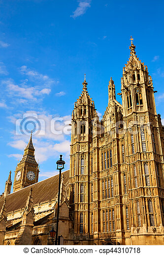 Westminster tower near Big Ben in London - csp44310718