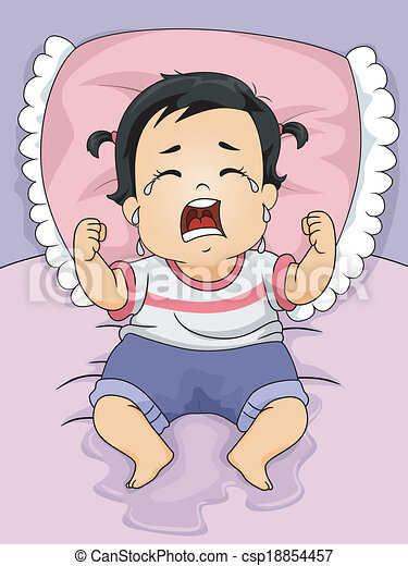 wet baby girl illustration of a baby girl crying out loud after rh canstockphoto com au baby crying clipart child crying clipart