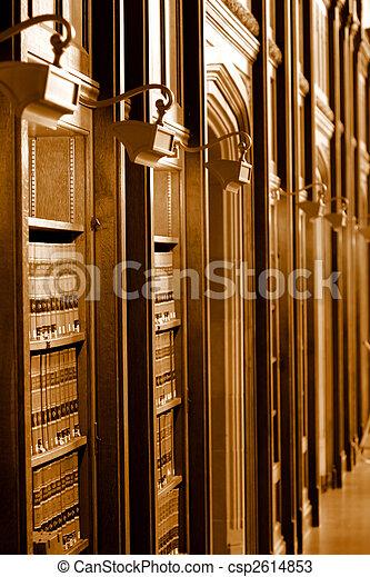 wet boek, bibliotheek - csp2614853
